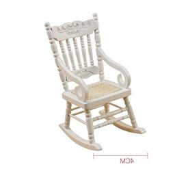 0.05 Dollhouse Accessory Fitting Rocking Chair Seat White or