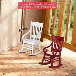 1:12 Dollhouse Mini Furniture Wooden Rocking Chair for Doll