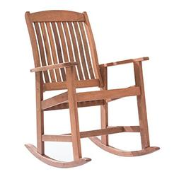 Sunjoy 110207088 Classic Rocking Chair, Brown