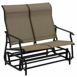 2 Person Loveseat Glider Rocking Bench Patio Double Armchair