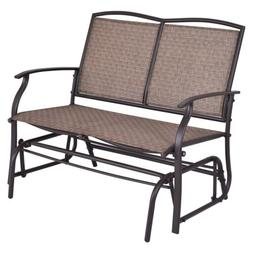 2 Person Swing Glider Loveseat Bench Rocking Chair Seat Outd
