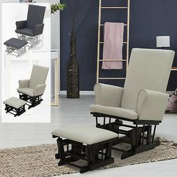 2PC Baby Nursery Relax Rocker Rocking Chair Glider & Ottoman
