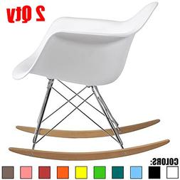 2xhome - Set of Two  White - Eames Style Molded Modern Plast