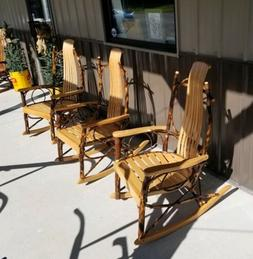 Rustic Hickory-Oak Rocking Chair- Amish Made in USA -New- R