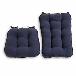 Greendale Home Fashions 5161 Denim Jumbo Rocking Chair Cushi