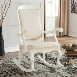 Acme Furniture 59388 Sharan Antique White Rocking Chair  NEW