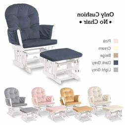 Glider Rocking Chair Replacement Cushions Velvet Washable fo