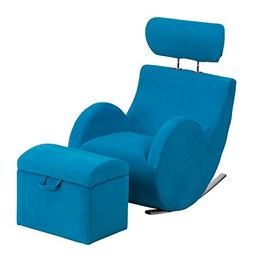 Flash Furniture HERCULES Series Turquoise Blue Fabric Rockin