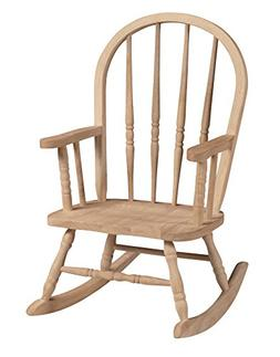 International Concepts 1CC-2140 Windsor Rocker, Unfinished