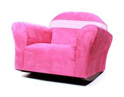 KEET Bubble Rocking Microsuede Kid's Chair, Pink