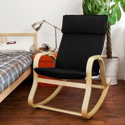 SoBuy Wood Relaxing Rocking Chair,Gliders,Lounge Chair with