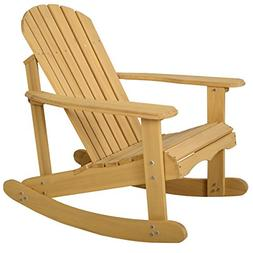 Giantex Adirondack Chair Outdoor Natural Fir Wood Rocking Ch