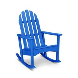 Polywood ADRC100PB Classic Adirondack Rocking Chair in Pacif