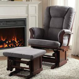 Aeron Accent Glider Rocking Chair & Ottoman Comfort Padded G