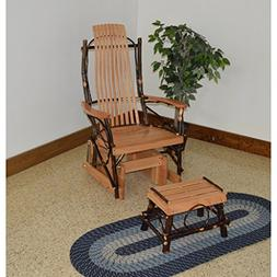 A & L Furniture Co. Amish Bentwood Hickory Glider Rocker wit