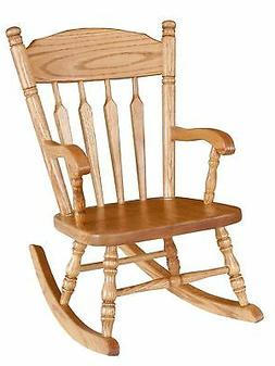 Amish Kids Toddler Rocking Chair Traditional Post Spindle So