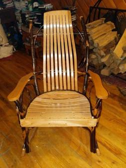 Amish Made Adult Oak , Bentwood Hickory  Rocking Chair