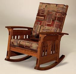 Amish Mission Arts and Crafts Rocking Chair McCoy Rocker Woo