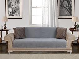Chiara Rose Anti-Slip Armless 1-Piece Sofa Throw Slipcover f
