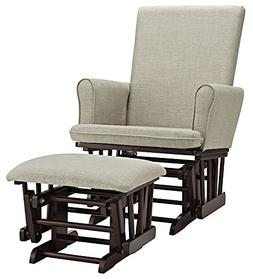 Angel Line Ashley Semi-Upholstered Glider and Ottoman, Espre