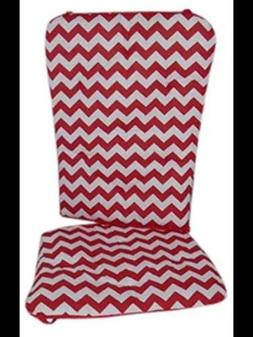 Baby Doll Bedding Chevron Rocking Chair Pad, Red
