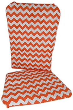 Baby Doll Bedding Chevron Rocking Chair Pad, Orange