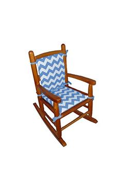 Baby Doll Bedding Chevron Junior Rocking Chair Pad, Blue