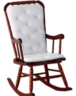 Baby Doll Bedding Heavenly Soft Adult Rocking Chair Pad, Whi