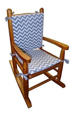 Baby Doll Bedding Minky Chevron Junior Rocking Chair Pad, Gr