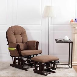 Baby Nursery Relax Rocker Rocking Chair Glider & Ottoman Set