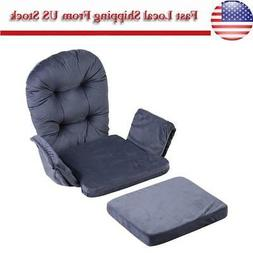 For Baby Nursery Rocker Rocking Chair Glider /& Ottoman Stool Seat Soft Cushion