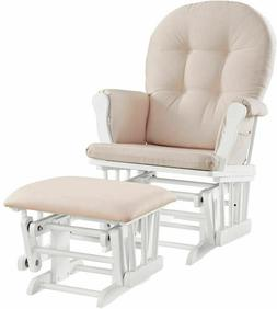 Baby Rocker Glider Nursery Rocking Chair and Nursing Ottoman