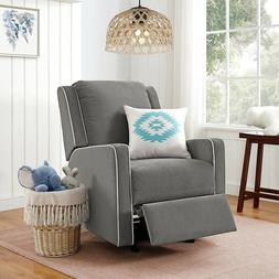 Baby Rocking Chair Recliner Graphite Grey Upholstered Modern