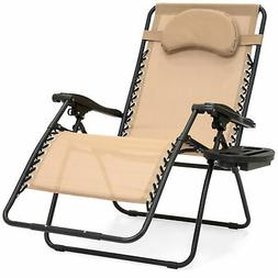 BCP Oversize Zero Gravity Outdoor Reclining Lounge Patio Cha