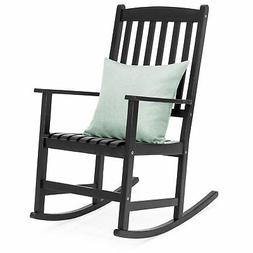 BCP Traditional Wooden Rocking Chair - Black