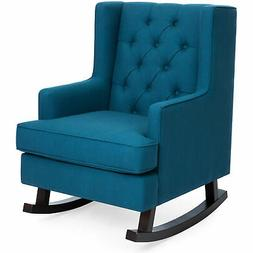 BCP Tufted Upholstered Wingback Rocking Chair