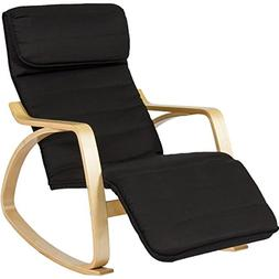 BCP Wood Recliner Rocking Chair W/ Adjustable Foot Rest Comf