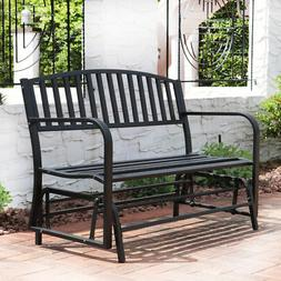 Bench Glider Rocking Chair Outdoor Patio Garden Furniture De