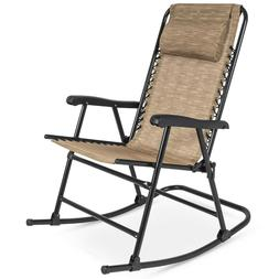 BestChoiceProducts Foldable Zero Gravity Rocking Patio Recli