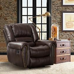Recliner Chair  Breathable Bonded Leather Sofa  Manual Recli