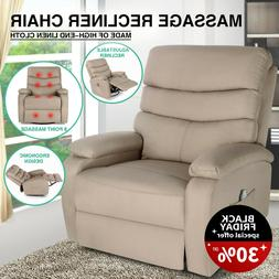 Brown Massage Recliner Chair Heated Rocking Vibration Sofa 3