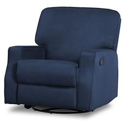 Delta Children Caleb Nursery Recliner Glider Swivel Chair, N