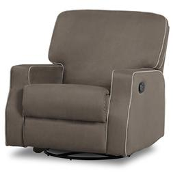 Delta Children Caleb Nursery Recliner Glider Swivel Chair, G