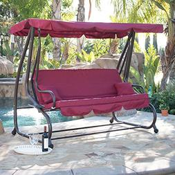 Belleze Outdoor Canopy Swing Motion Gilder Converting Patio
