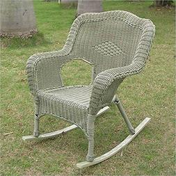 International Caravan Chelsea Outdoor Porch Rocker in Antiqu