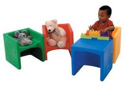 Children s Factory CF910-007 Multi-Colored Chair Cube- Set o
