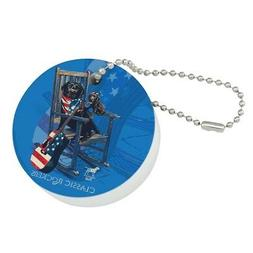 Classic Rockers Dogs Rocking Chair USA Floating Keychain Rou
