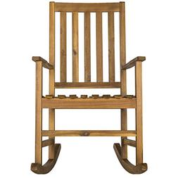 Safavieh Outdoor Collection Barstow Teak Rocking Chair