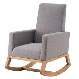 comfortable fabric rocking chair indoor furniture padded
