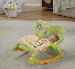 "Fisher-Price ""Mocha Butterfly"" Comfy Time Bouncer - lime, on"